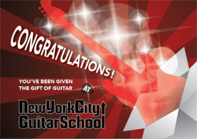 gift certificates for guitar lessons and classes at NYC Guitar School sample