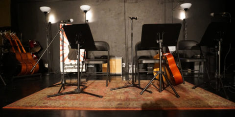 beautiful picture of UES stage at NYC Guitar School